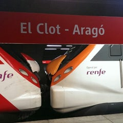 Photo taken at RENFE El Clot-Aragó by Lucas P. on 10/13/2013