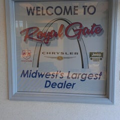 Photo taken at Royal Gate Dodge Chrysler Jeep Ram by Nick S. on 10/9/2012