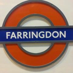 Photo taken at Farringdon London Underground Station by Kazuhisa Y. on 12/10/2012