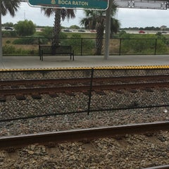 Photo taken at Tri-Rail - Boca Raton Station by Tim K. on 12/26/2013