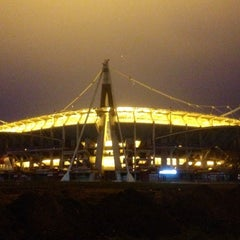 Photo taken at Стадион «Локомотив» by VLAD Y. on 11/19/2012