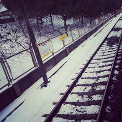 Photo taken at Yenibosna Metro İstasyonu by Oussama O. on 1/8/2013