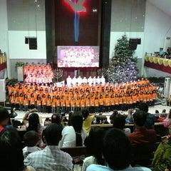 Photo taken at Gereja Allah Baik Pusat by Dony C Y on 12/23/2013
