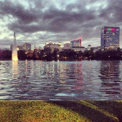 Photo taken at Hermann Park by Julian K. on 12/25/2012