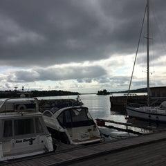 Photo taken at Gåshaga Marina by Håkan F. on 6/30/2014