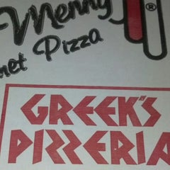 Photo taken at Greek's Pizzeria by Pam G. on 12/1/2013
