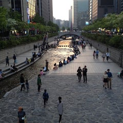 Photo taken at 광통교 by Mark D. on 5/10/2014