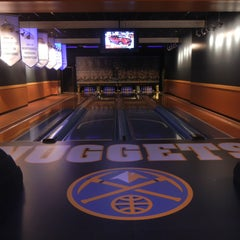 Photo taken at Celebrity Lanes Bowling by Denver Nuggets on 10/10/2012