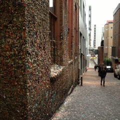Photo taken at Gum Wall by Stephanie R. on 1/20/2013