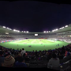 Photo taken at 味の素スタジアム (AJINOMOTO STADIUM) by oshin s. on 4/3/2013