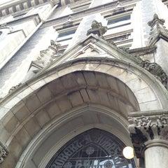 Photo taken at Johnston Hall by Tim C. on 10/9/2012