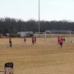 Photo taken at Corinth Soccer Fields by Erica M. on 3/1/2014
