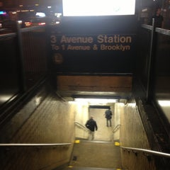 Photo taken at MTA Subway - 3rd Ave (L) by Leo M. on 4/16/2013
