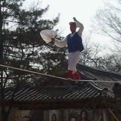 Photo taken at 한국민속촌 (Korean Folk Village) by Raysa R. on 4/4/2013
