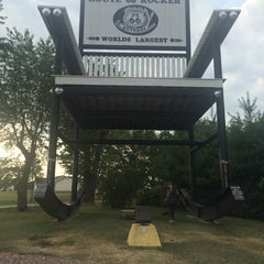 Photo taken at World's Largest Rocking Chair by Jennifer S. on 8/4/2014
