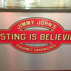 Photo taken at Jimmy John's by Alison K. on 3/5/2013
