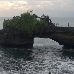 Photo taken at Tanah Lot Beach by annisa f. on 2/2/2013