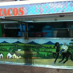 Photo taken at Tacos Mi Rancho by Jennifer W. on 7/7/2013
