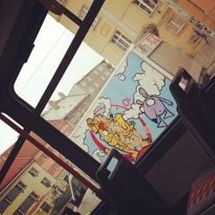 Photo taken at Průběžná (tram) by Kryštof W. on 10/21/2012