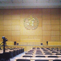 Photo taken at World Health Organization - Main Building by Екатерина Е. on 5/16/2013