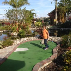 Photo taken at The Fish Hole Mini Golf by Joe M. on 2/3/2013