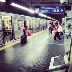 Photo taken at Estação Portuguesa-Tietê (Metrô) by Renan O. on 11/20/2012