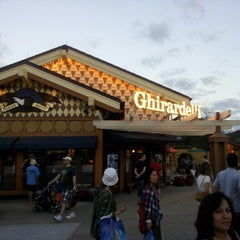 Photo taken at Ghirardelli Soda Fountain & Chocolate Shop by Erik C. on 1/12/2013