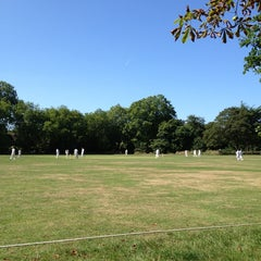 Photo taken at Putney Common Cricket Pitch by Ian G. on 8/31/2013