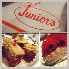 Photo taken at Junior's Restaurant by Ron 'Spidey' G. on 4/26/2013
