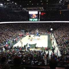 Photo taken at Žalgirio Arena | Zalgiris Arena by Kestutis K. on 11/23/2012