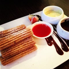 Photo taken at Max Brenner Chocolate Bar by Julyn on 4/30/2013