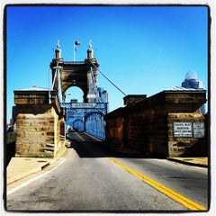 Photo taken at John A. Roebling Suspension Bridge by Paul H. on 5/10/2012