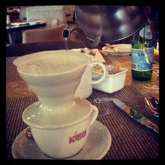 Photo taken at Devotion Cafe Hilton Bogota by Juliana T. on 4/27/2012