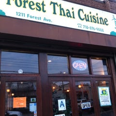 Photo taken at Forest Thai Cuisine by Lauren P. on 4/9/2011