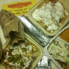 Photo taken at Americana Pizza & Taqueria by DuH on 1/2/2012