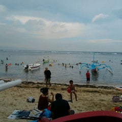 Photo taken at Pantai Segara Ayu by Bielz R. on 4/29/2012