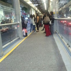 Photo taken at Metrobús Durango L1 by Javier A. on 8/12/2012