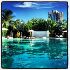 Photo taken at Pool at The Standard Spa, Miami Beach by Philippo G. on 10/15/2012