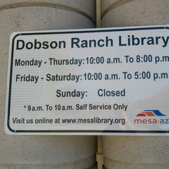 Photo taken at Dobson Ranch Branch Library by Shari on 3/13/2013