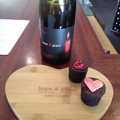 Photo taken at hope & grace Wines by Cynthia on 2/16/2014