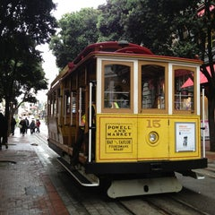 Photo taken at Powell Street Cable Car Turnaround by Mia S. on 6/25/2013