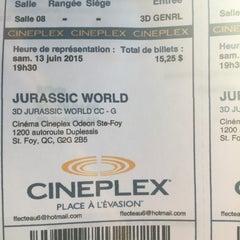 Photo taken at Cinéma Cineplex Odeon Ste-Foy by Fnc❤️✈️ on 6/13/2015