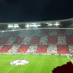 Photo taken at Allianz Arena by Pilar on 4/23/2013