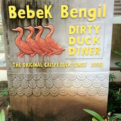 Photo taken at Bebek Bengil (Dirty Duck Diner) by Irvan Y. on 12/26/2012