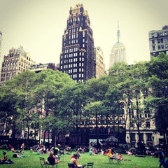 Photo taken at Bryant Park by Gaurav M. on 8/23/2013