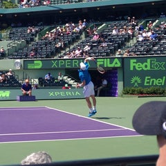 Photo taken at Grandstand Court - Sony Ericsson Open by David S. on 3/23/2014
