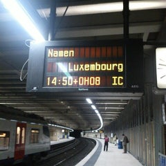 Photo taken at Gare de Bruxelles-Schuman / Station Brussel-Schuman by Catherine on 10/23/2013