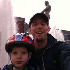 Photo taken at Father & Son Fountain by Captain B. on 2/24/2015