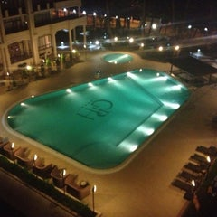 Photo taken at open air swimming pool @ Georgia Palace Hotel by Andrey T. on 10/17/2012