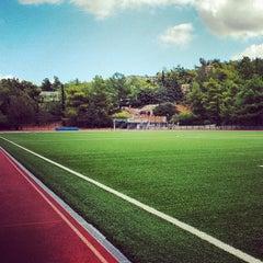 Photo taken at Soccer Field & Running Track ACG-Deree by Omar K. on 10/2/2013